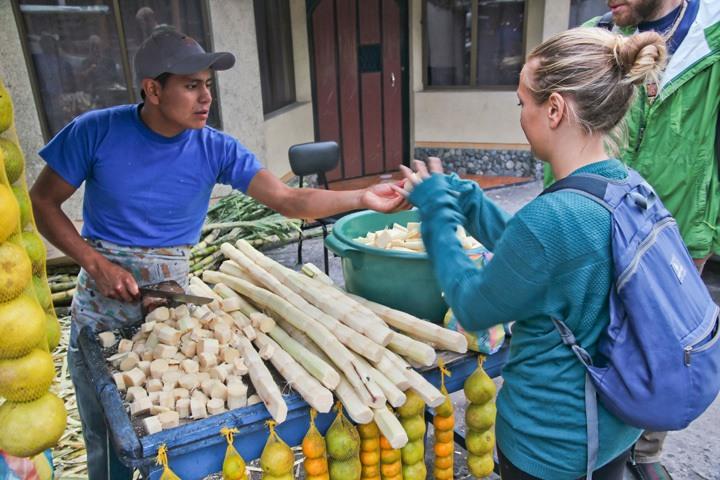 Street vendor in Banos, Ecuador