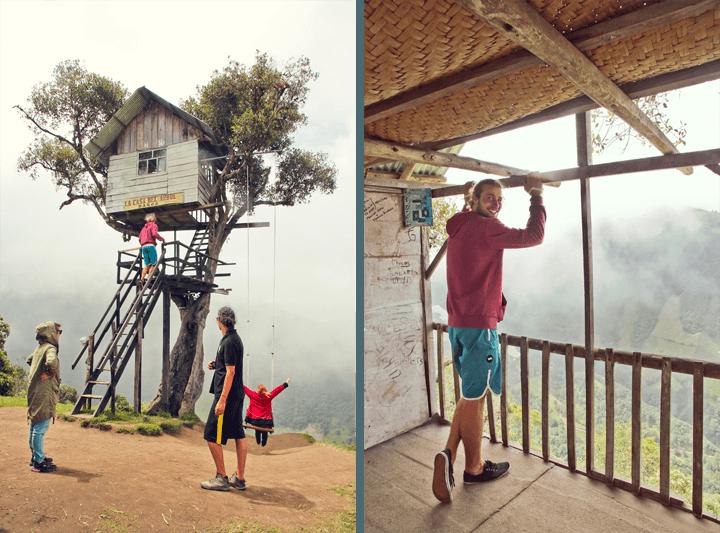 Treehouse in Banos, Ecuador