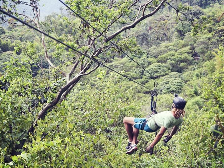 Ziplining in Mindo