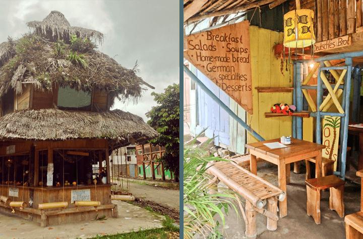 Cafe in Mindo, Ecuador
