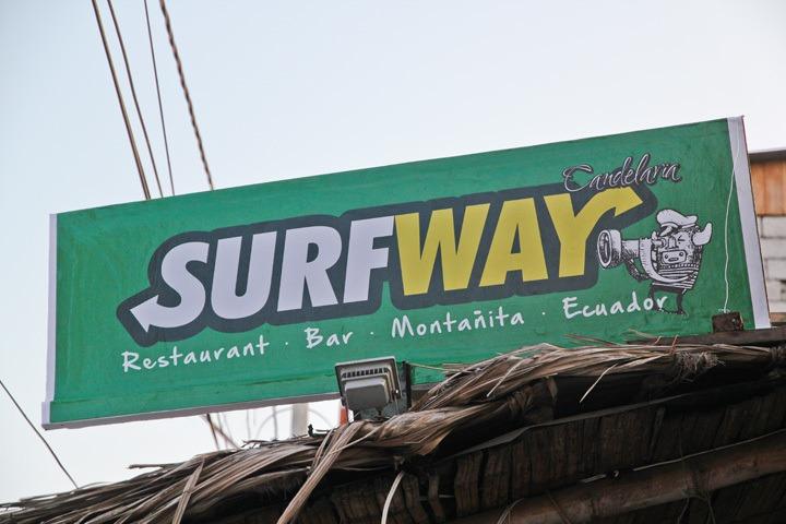 Surfway in Montanita, Ecuador