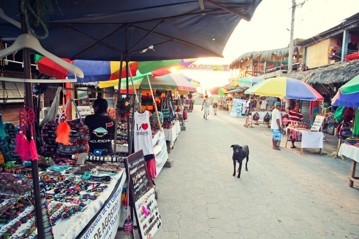 Montanita Town in Ecuador