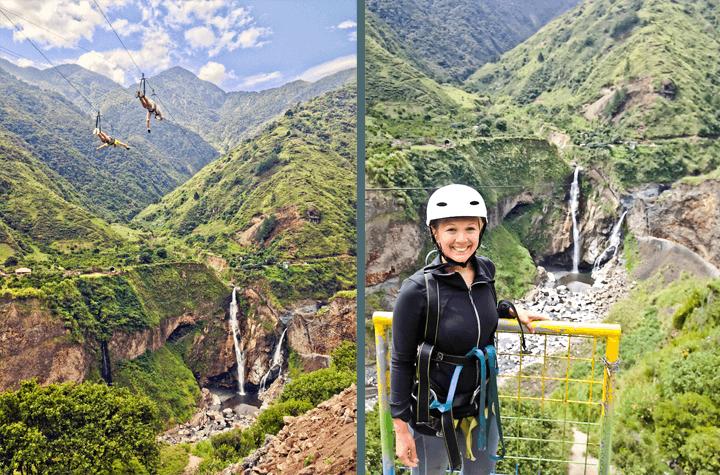 Ziplining in Banos, Ecuador