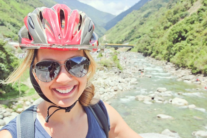 Biking the Waterfall Route in Banos