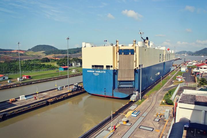 The Miraflores Locks, Panama City