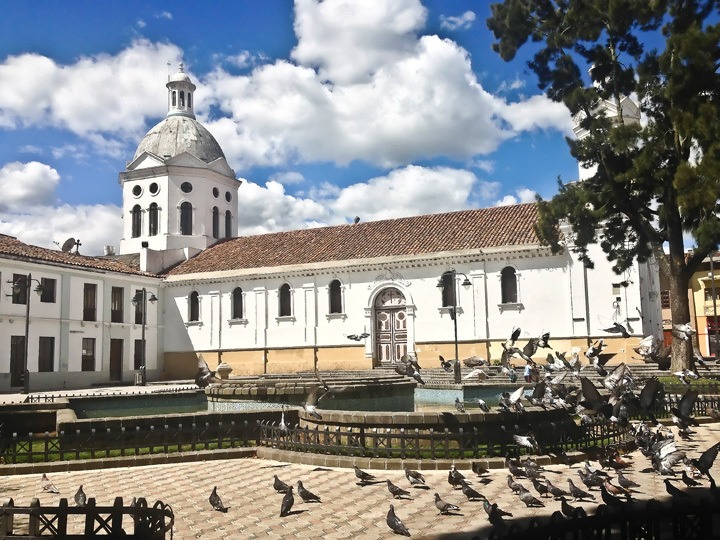 Colonial Church in Cuenca