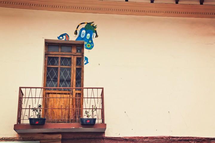 Balcony in Cuenca, Ecuador