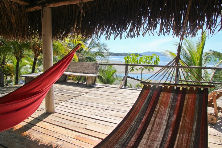 Hammocks at Estero Beach, Santa Catalina, Panama