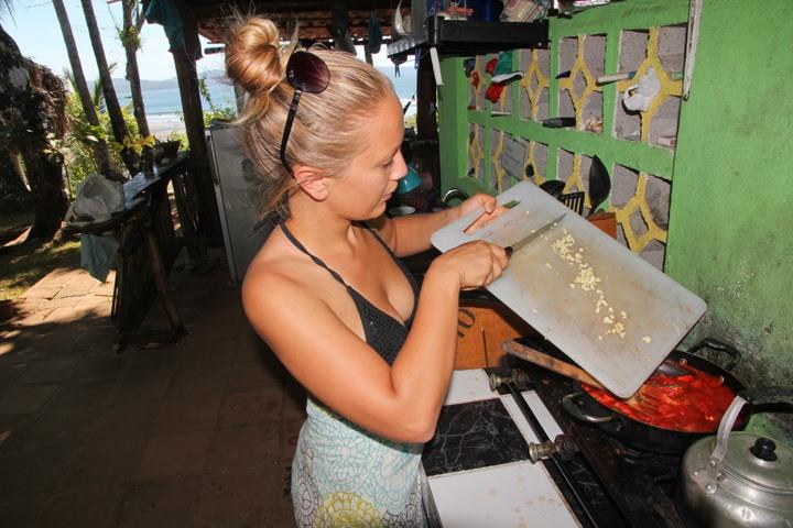 Cooking at Rancho Estero, Santa Catalina