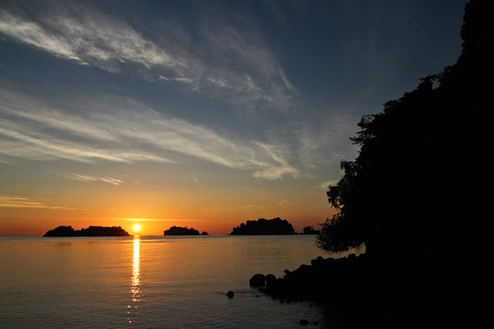 Sunrise on Isla de Coiba