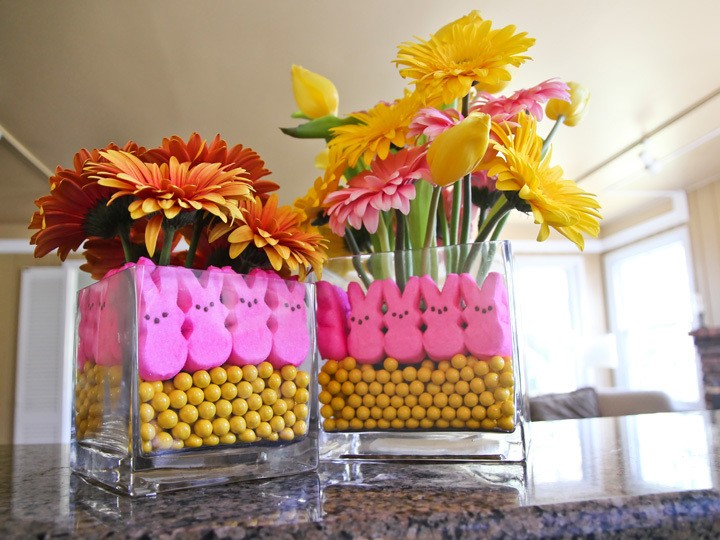 Peeps Easter Flower Arrangement