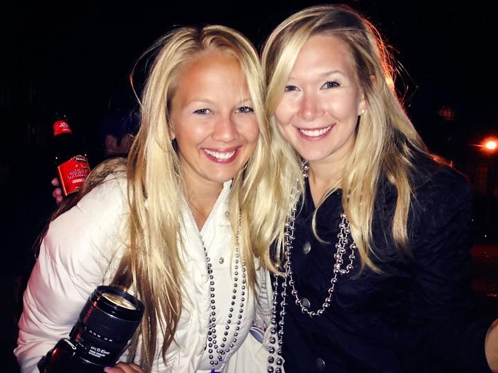 Sisters at Mardi Gras