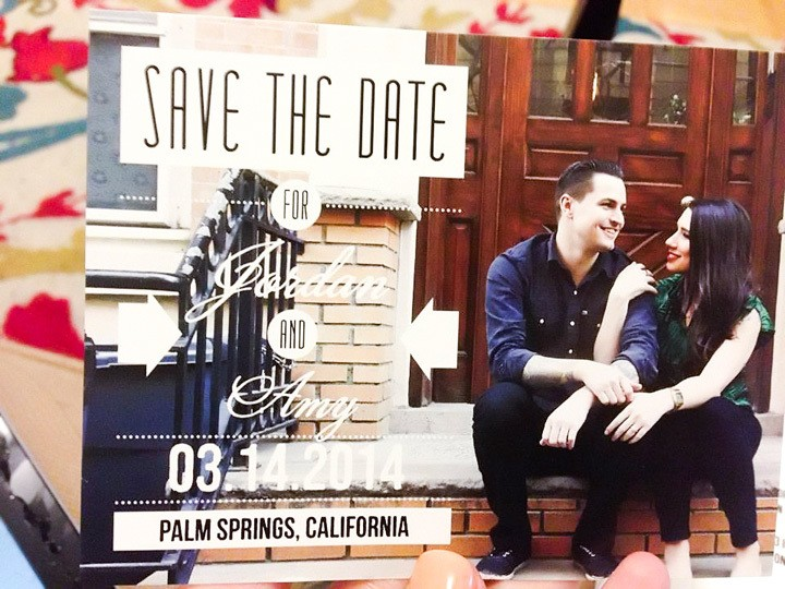 Palm Springs Wedding Save The Date