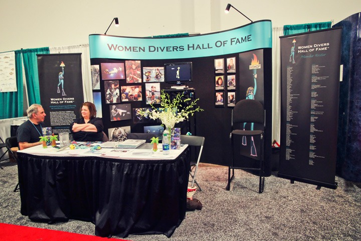Women Diver's Hall of Fame Booth BTS