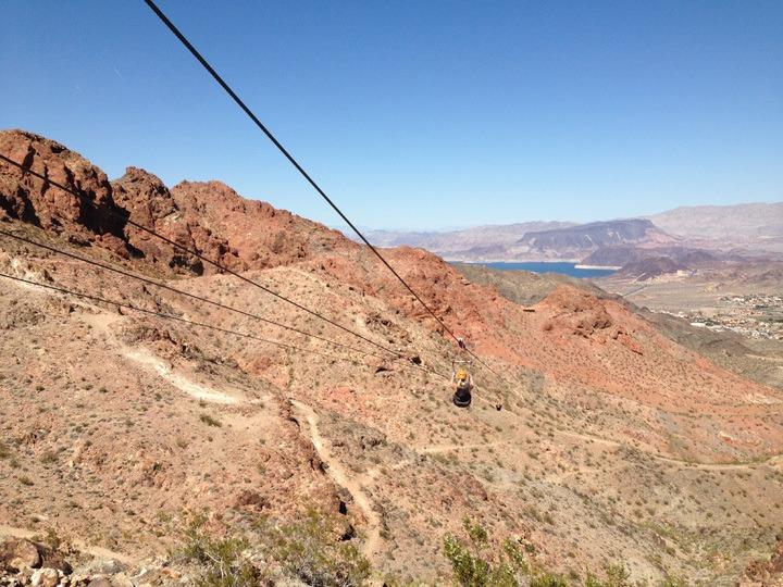 Ziplining in Boulder Canyon