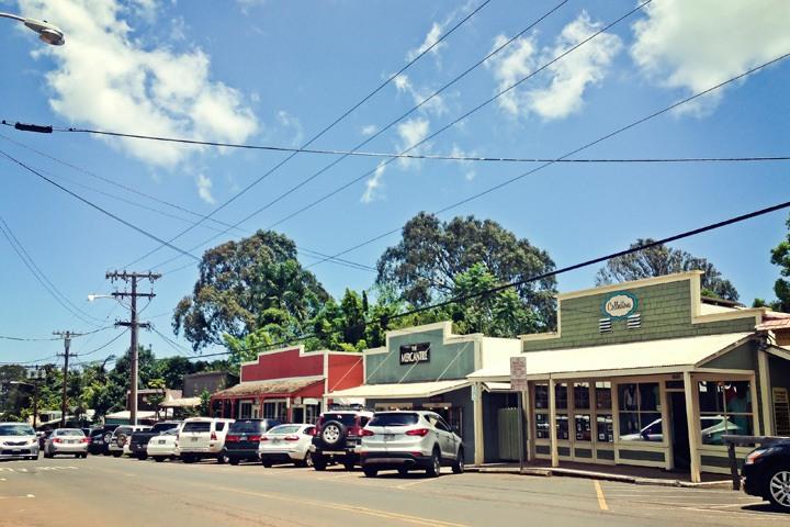 Makawao town in Maui