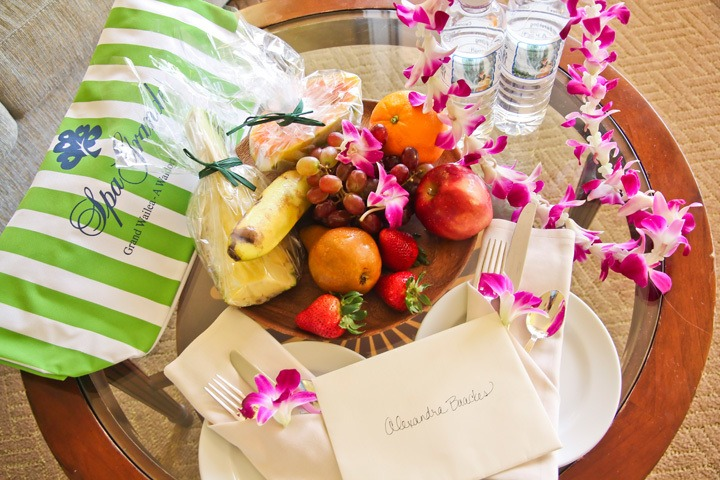 Grand Wailea Welcome Basket