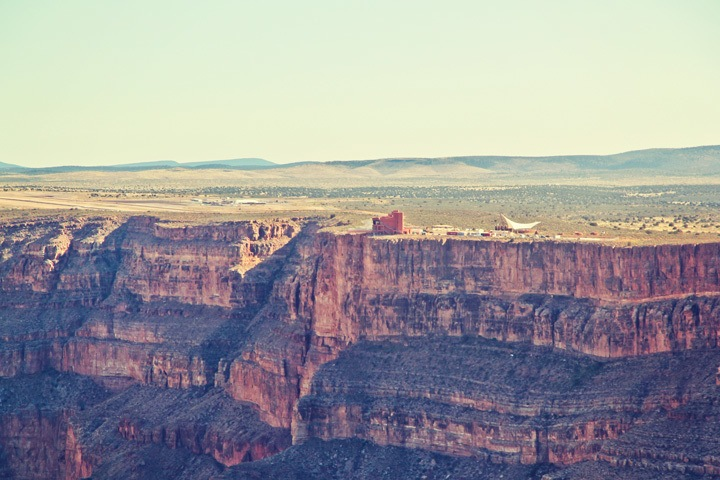 Grand Canyon Skywalk from Helicopter