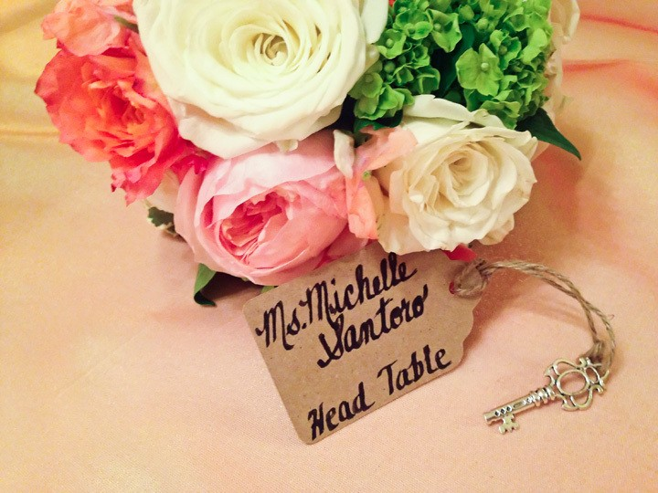 Key and Luggage Tag Escort Cards