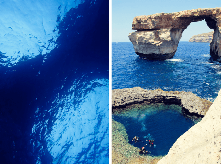 Diving The Azure Window