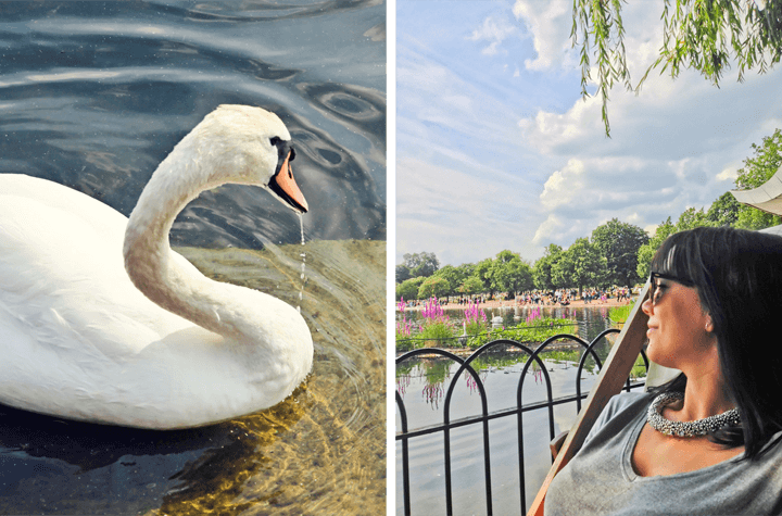 A Sunny Day in Hyde Park, London