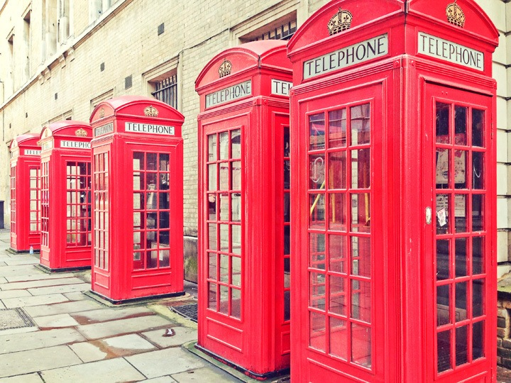 Red Phonebooths in London