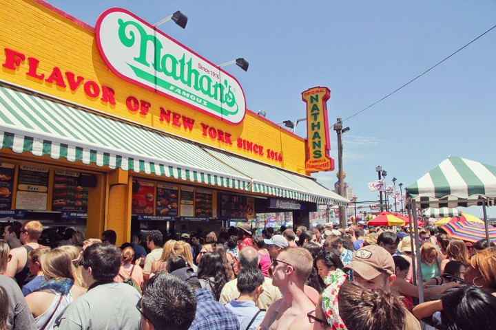 Nathan's Hot Dogs NYC