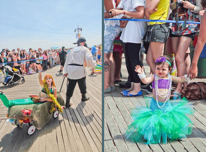 Kids at the Coney Island Mermaid Parade