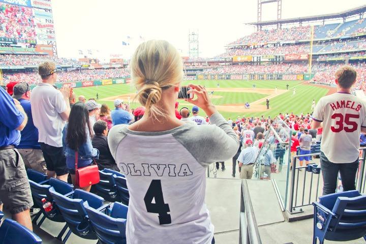 Taking Photos at Phillies Game