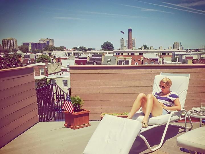 Rooftop relaxing in Philadelphia