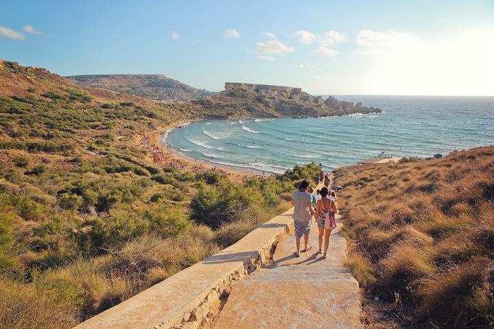 Għajn Tuffieħa Bay, Malta