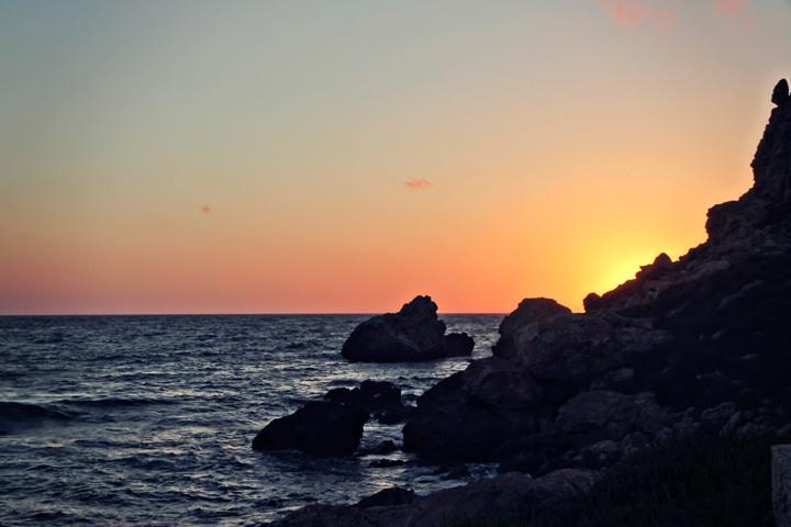 Sunset at Għajn Tuffieħa Bay, Malta