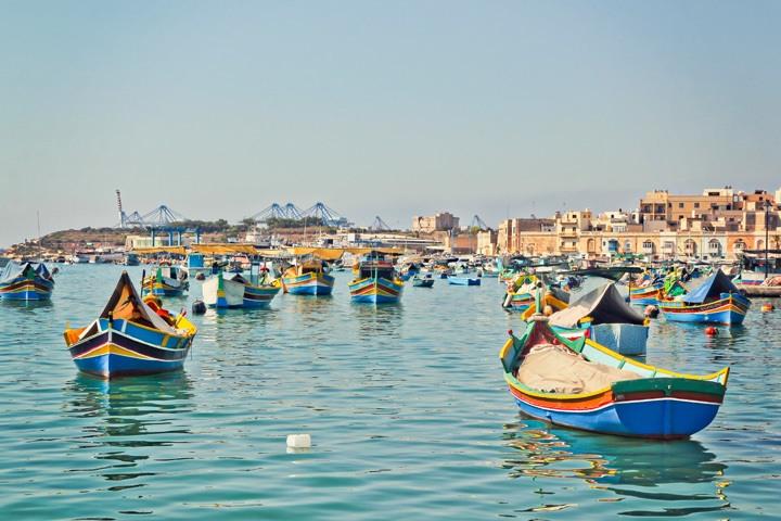 Fishing boats in Marsaxlokk, Malta