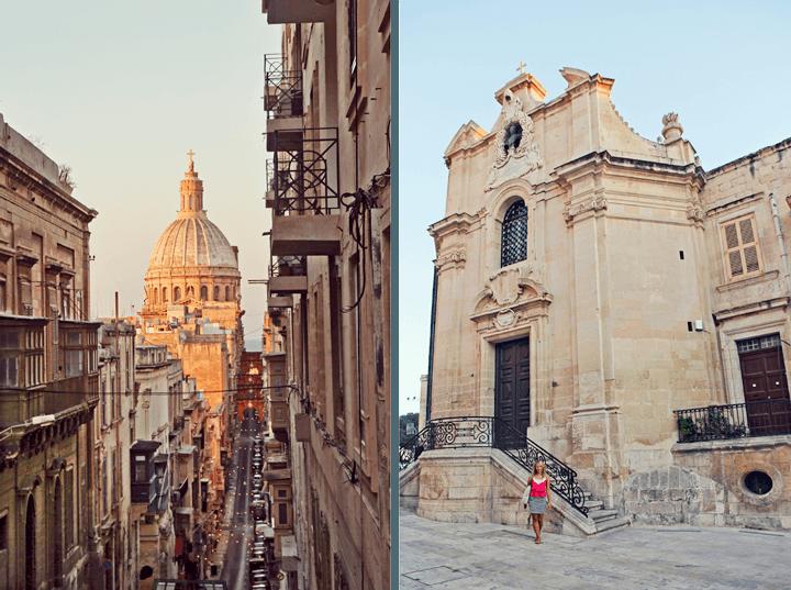 Sunset on Valleta, Malta