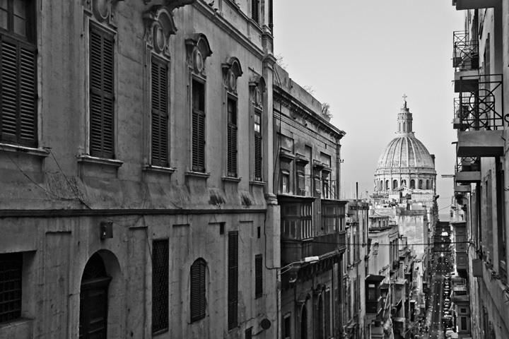 Valleta, Malta in Black and White