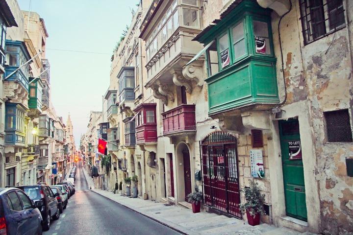 Colorful Streets of Valleta, Malta