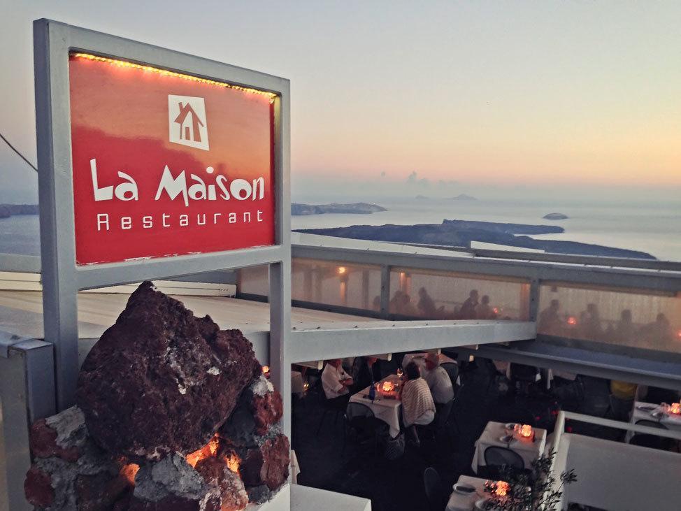 La Maison Restaurant, Imerovigli, Santorini