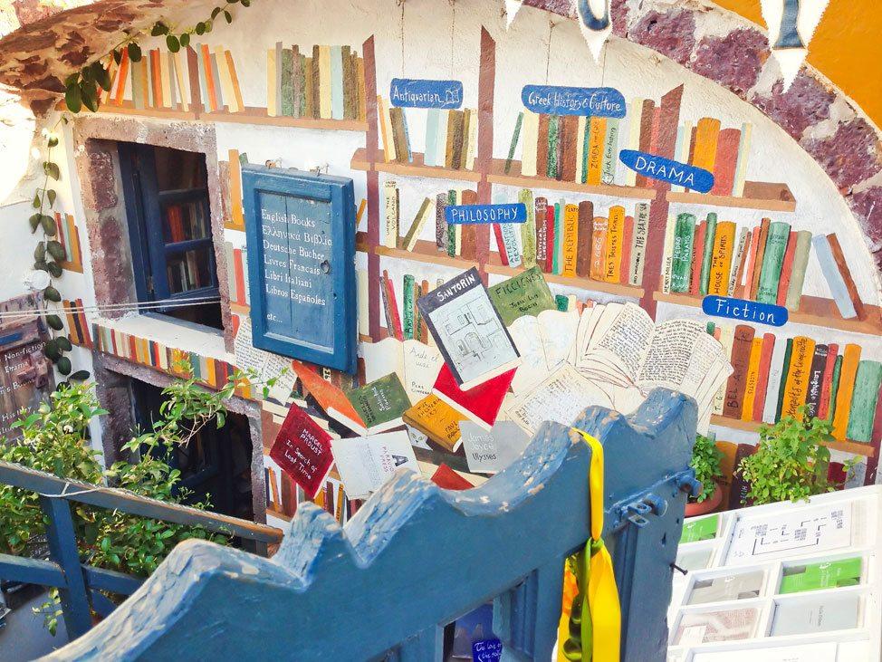 Bookstore in Oia