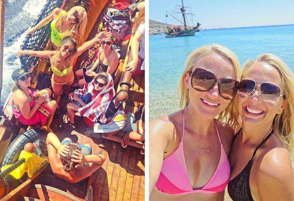 Leigh Browne Pirate Boat Trip, Ios