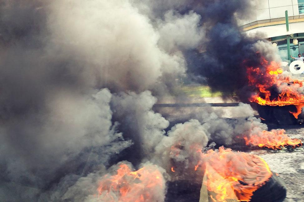 Bahrain Tire Burning