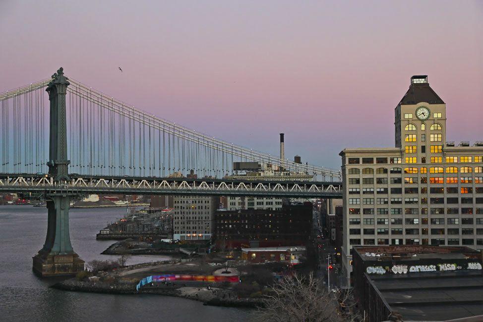 The Manhattan Bridge at Sunset