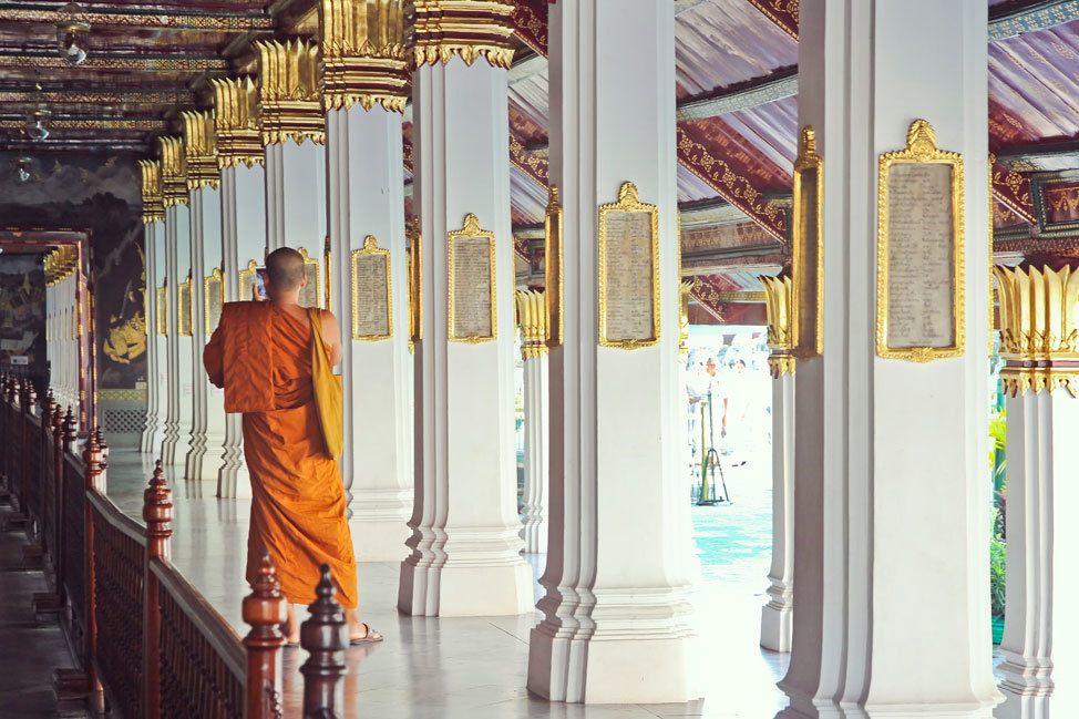 Monk at Wat Phra Kaew