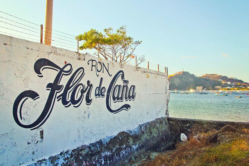 Flor de Cana Sign, San Juan del Sur, Nicaragua
