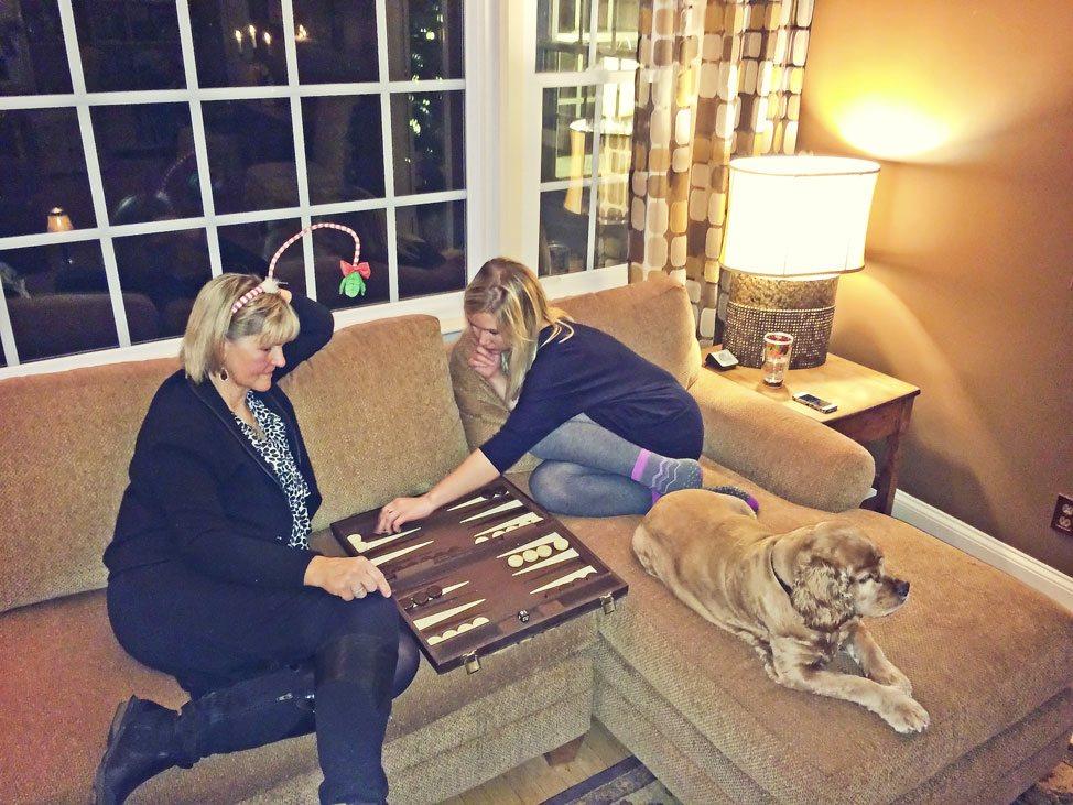 Christmas Eve Backgammon