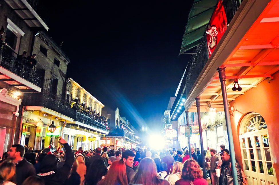 New Year's Eve on Bourbon Street