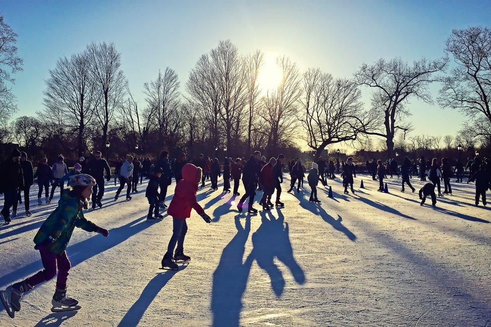 Ice Skating in Prospect Park