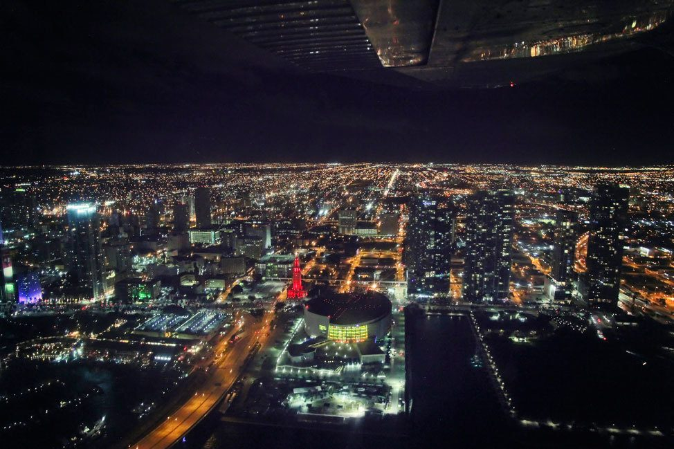 Evening Flight over Miami