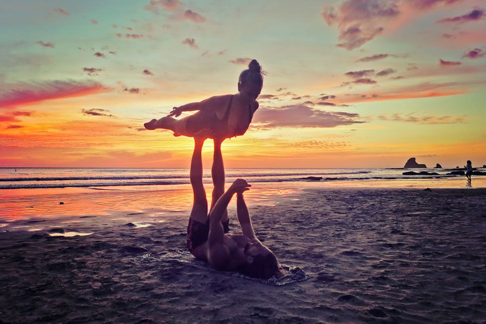 Acro Yoga at Sunset