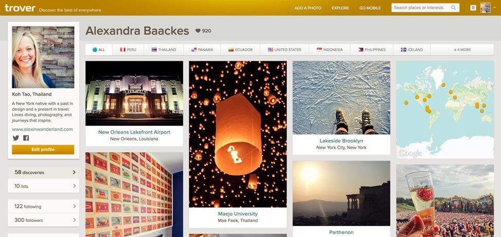 Trover for Travel Planning