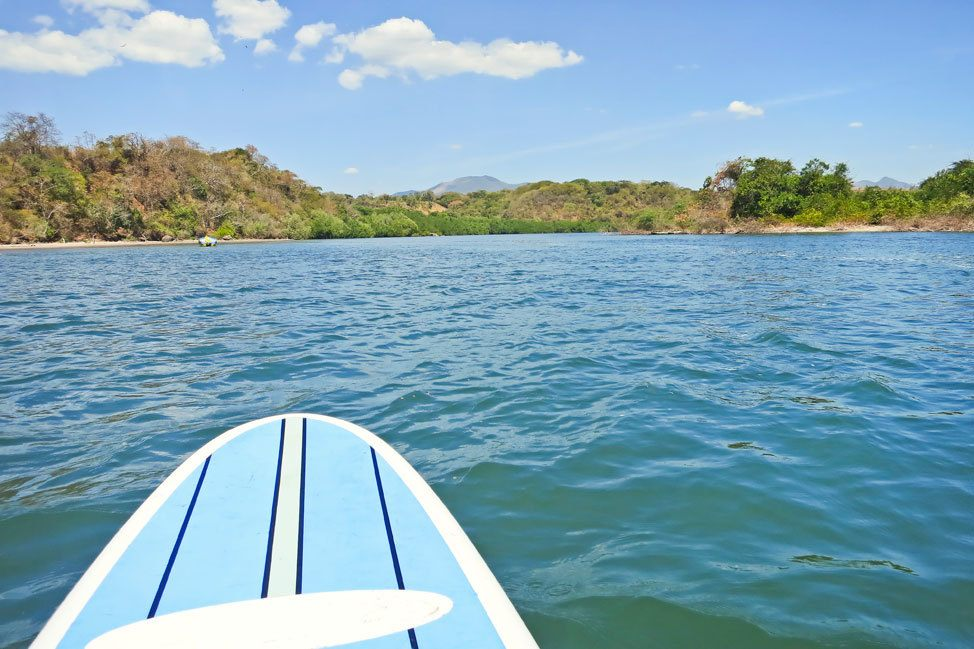 Stand Up Paddleboarding in El Cuco